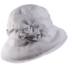 Ladies' Beautiful/Classic Cotton/Linen With Flower Bowler/Cloche Hat