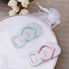 Personalized Flip-flop Zinc Alloy Bottle Favors (Set of 4)