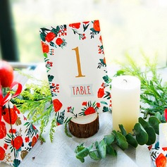 4pcs Wooden Card Holder DIY Wedding Decoration R: 3-4cm H: 2cm