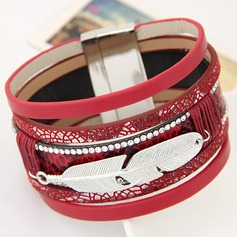 Fashional Alloy Leatherette With Rhinestone Ladies' Fashion Bracelets
