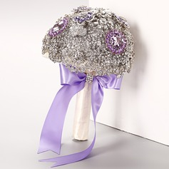 Eye-catching Round Rhinestone Bridal Bouquets