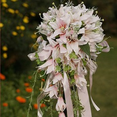 Eye-catching Cascade Satin Wedding Bouquet