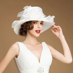 Dames Magnifique Organza Chapeau melon / Chapeau cloche/Kentucky Derby Des Chapeaux/Chapeaux Tea Party