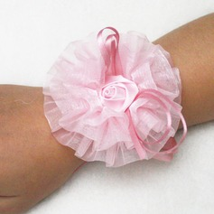 Simple And Elegant Hand-tied Silk Wrist Corsage (Sold in a single piece) - Wrist Corsage