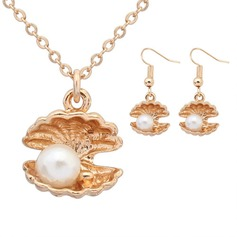 Gorgeous Alloy Imitation Pearls With Imitation Pearl Ladies' Jewelry Sets