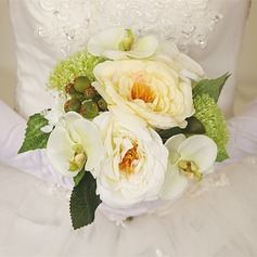 Romantic Hand-tied Artificial Silk Bridal Bouquets/Bridesmaid Bouquets/Wedding Table Flowers -