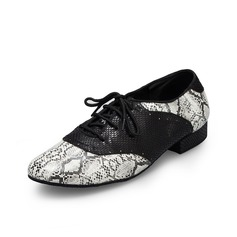 Men's Leatherette Flats Modern Dance Shoes