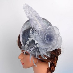 Ladies ' Krásný/Elegantní Bavlna S Pírko/Silk Flower/Tyl Fascinators