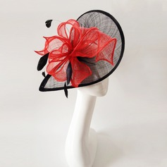 Ladies' Vintage Feather/Net Yarn With Feather Fascinators