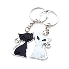 "Personalized ""Cute Fox"" Chrome Keychains  (118030646)"