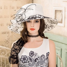 Ladies' Elegant Organza With Bowknot Floppy Hat