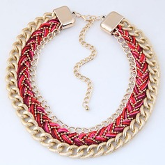 Chic Alloy Braided Rope Women's Fashion Necklace (Sold in a single piece)