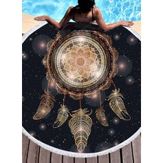 Retro/Vintage/Dreamcatcher round/attractive Beach towel (204165356)