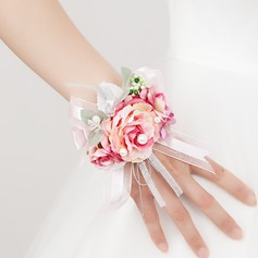 Romantic Free-Form Satin Wrist Corsage -