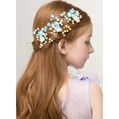 Beautifel Sky Blue Alloy Hairpins (Set of 3) 198121128