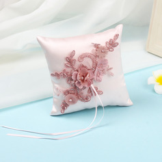 Beautiful Cloth Ring Pillow With Ribbons