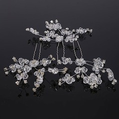 Elegant Crystal/Rhinestone Hairpins (Set of 3)