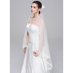 Two-tier Lace Applique Edge Waltz Bridal Veils