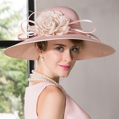 Ladies' Eye-catching Net Yarn With Silk Flower Bowler/Cloche Hats/Kentucky Derby Hats/Tea Party Hats