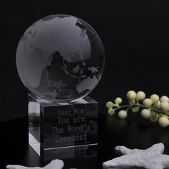 Personalized Globes Crystal Keepsake
