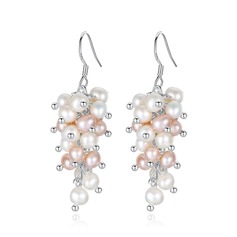 Shining Pearl/925 Sterling Silver Earrings