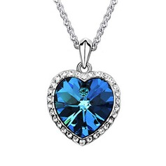 Heart Shaped Alloy With Crystal Women's Necklaces