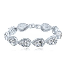 Beautiful Alloy/Zircon Ladies' Bracelets (011118392)