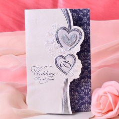 Heart Style Tri-Fold Invitation Cards  (114033289)