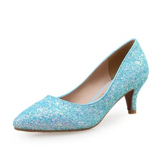 Women's Sparkling Glitter Kitten Heel Pumps With Sparkling Glitter shoes (085097925)