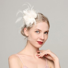 Ladies' Fashion Feather/Net Yarn With Feather Fascinators/Tea Party Hats