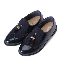 Girl's Closed Toe Loafers & Slip-Ons Leatherette Flat Heel Flats Flower Girl Shoes With Tassel