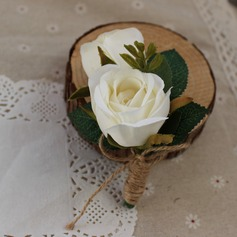 Hand-tied Silk Flower Boutonniere (Sold in a single piece) - Boutonniere