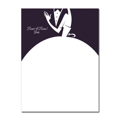 Classic Black & White Canvas Fingerprint Guestbook With Ink Pad