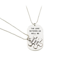 Bride Gifts - Simple Alloy Necklace (Set of 2)