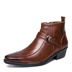 Men's Leatherette Chelsea Casual Men's Boots (261216567)