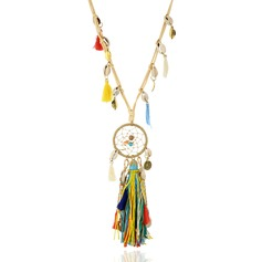 Unique Braided Rope Shell With Tassels Ladies' Fashion Necklace (Sold in a single piece)