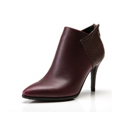 Women's Leatherette Stiletto Heel Pumps Ankle Boots With Split Joint shoes