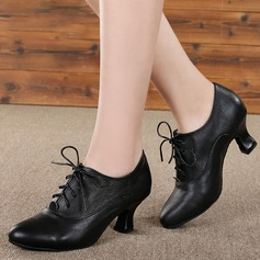 Women's Real Leather Swing Dance Shoes