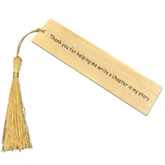 Personalized High Quality Stainless Steel Bookmarks With Tassel