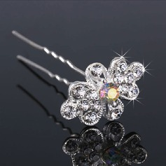 Flower Shaped Alloy/Imitation Pearls Hairpins (Set of 3)