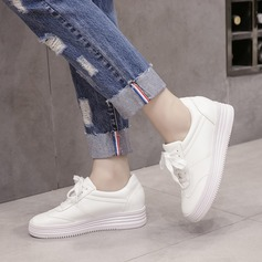 Women's PU Wedge Heel Platform Wedges With Lace-up shoes