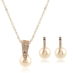Beautiful Alloy/Imitation Pearls Ladies' Jewelry Sets
