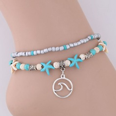 Starfish Alloy Imitation Turquoise Beads Women's (Sold in a single piece)