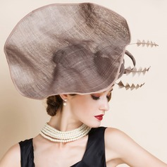 Ladies' Glamourous Summer Cambric With Feather Fascinators