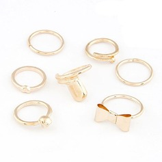 Lovely Alloy Ladies' Fashion Rings (Set of 7)