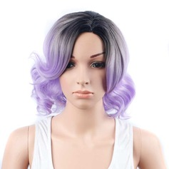 Wavy Bob Mid-Length Synthetic Wigs Cosplay Wigs (Sold in a single piece)