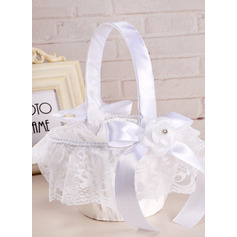 Flower Girl Satin Flower Basket (198238518)