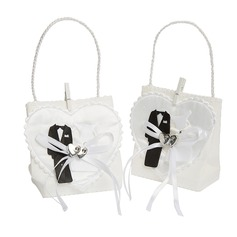 Heart style Handbag shaped Favor Bags With Ribbons