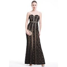 Sheath/Column Sweetheart Floor-Length Lace Evening Dress