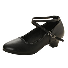 Women's Leatherette Heels Ballroom Swing With Buckle Dance Shoes